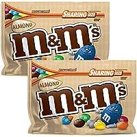 M&Ms Almendra dulce y chocolate Tamaño de la bolsa Sharing 263.7g 2 paquetes