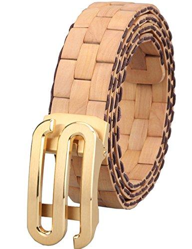 Menschwear Herren & Damen handgemachter Holz-Gürtel