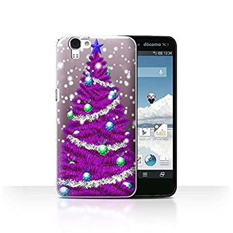 Coque de Stuff4 / Coque pour Sharp Aquos Zeta SH-01F/Docomo / Violet Design / Sapin/Arbre de Noël Collection