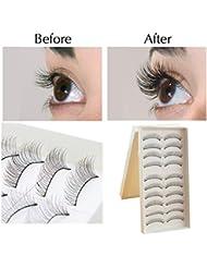 Distincts® Fait main Fashioned Maquillage long naturel 2x10 paires Professional faux cils Cils Extension Pour Nude Rechercher