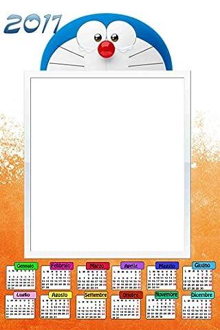 Calendrier Personnalise - Calendrier personnalisé 2017avec une photo, Art.307, Doraemon