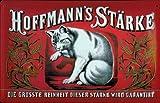 Blechschild Nostalgieschild Hoffmann Stärke Katze rot quer Dekoration Schild