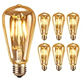 6 Stück Edison Vintage LED-Lampe Oak Leaf Glühbirne