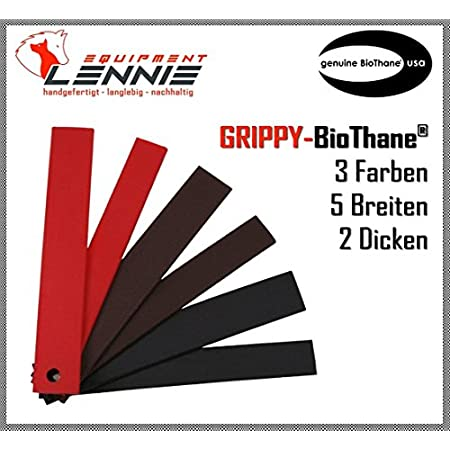 BioThane® Meterware, Grippy Standard, 9-25 mm breit, ca. 2,5 mm dick, 3 Farben