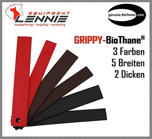 BioThane® Meterware, Grippy Standard, 9-25 mm breit, ca. 2,5 mm dick, 3 Farben, 13mm, Schwarz