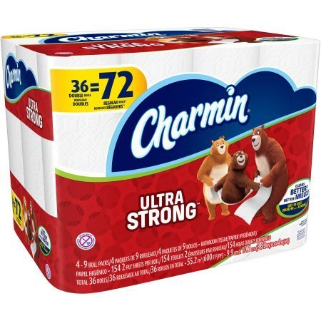 Charmin Ultra Strong Toilet Paper Double Rolls, 154 sheets, 36 rolls 12.00 x 16.00 x 11.90 Inches by Charmin