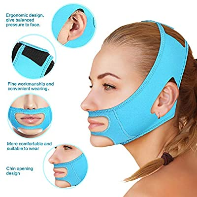 Face Slimming Mask, Face Slimming Bandage Belt Mask Facelift Masseter Muscle Strap