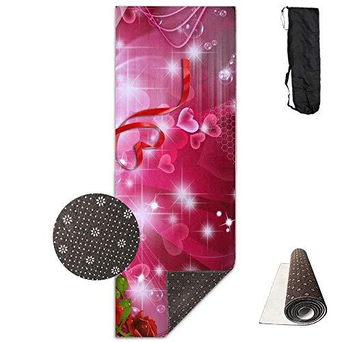 Vercxy Rose HD Tapers Yogamatte, Yogamatte, rutschfestes Futter, leicht zu reinigen, latexfrei, leicht und langlebig, 180 x 61 cm