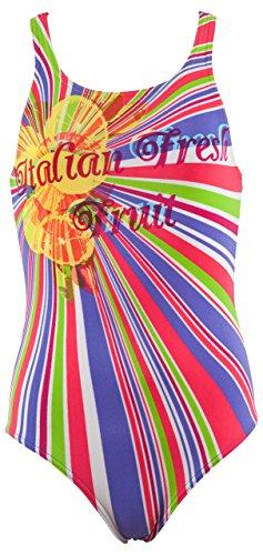 Arena Girl'frisches Obst Swim Suit, Agatha Voilet/Yellow Star, 10-11 Jahre