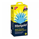 Marigold Nitrile MultiPurpose Disposable Gloves, Medium/Large, Pack of 40Blue