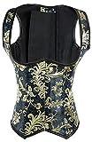 KuSen - Corsé para mujer con diseño bordado (tallas grandes) Goldene