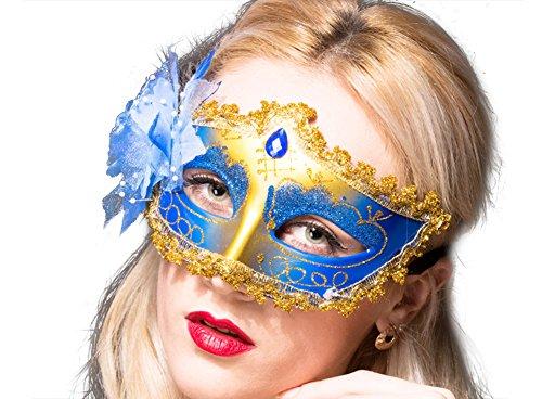 Moolecole Kostüm Maske Makeup Tanzen Maske Halloween Mardi Gras Maske Hälfte Gesicht Sexy Party Maske Blau (Machen Sie Es Sich Paare Halloween Kostüme)