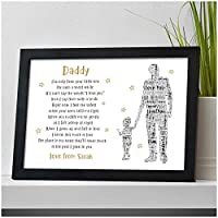 PERSONALISED Dad, Daddy, Grandad POEM from Son, Daughter - Christmas, Fathers Day, Birthday Keepsake Gifts for Him - Birthday, Christmas, Fathers Day - 1, 2 or 3 Children Designs
