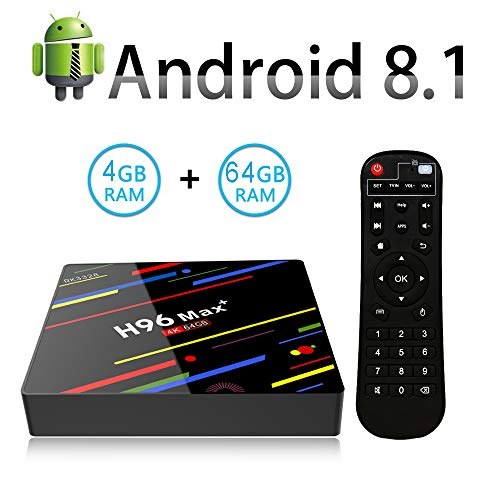 TV Box Android 8.1 H96 MAX+ 4GB RAM & 64GB ROM