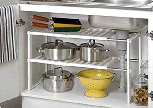 Under sink caddy rack storage organiser shelf unit for Under sink cabinet tray