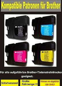 P4L – 8 cartouches XL = 2 Set pour Brother compatible LC 1240 LC 1280 BK / C / M / y. Convient pour les appareils suivants J825DW Brother MFC MFC MFC J6910DW J6710DW J6510DW MFC MFC MFC J430W J625DW J925DW DCP DCP DCP J525W J725DW