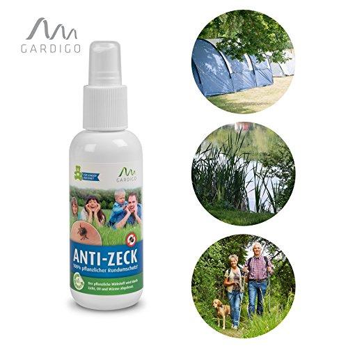 """Gardigo Anti-Zeck Spray, Zeckenspray, Insektenschutz, Insektenspray, Zeckenschutz, 100% pflanzliche Insektenabwehr 130 ml Dermatest """"sehr gut"""", Zeckenabwehr"""