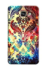 Omnam Printed Leaf Design Pattern Printed Designer Back Cover Case For Samsung Galaxy A7 (2016)