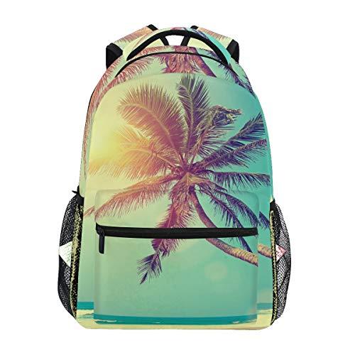 Rucksack Rucksack Perfekt für Schulreisen Hawaii Tropical Sea Beach Palme Kindertagesstätte für Teen Boys Girls -