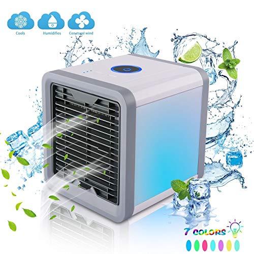 Mini Ventilador de Refrigeración Ventilador de Aire Acondicionado de Escritorio Pequeño, Mini...