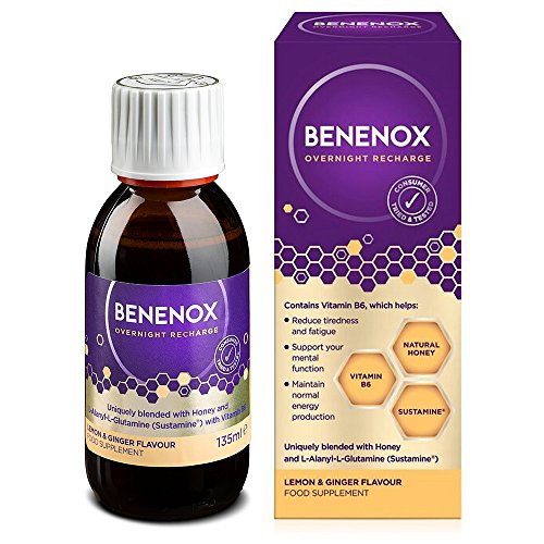 Benenox Overnight Recharge Food Supplement – 135 ml (Lemon and Ginger (6 Pack))