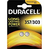 Duracell 357/303-C2 Coin Cells Silver Oxide Batteries Carded 2