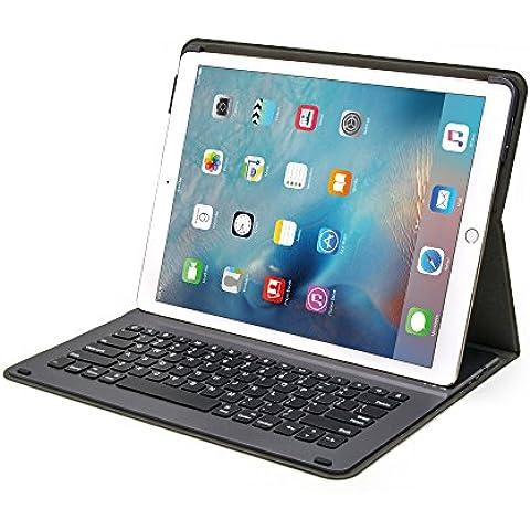 iPad Pro Teclado, Sharon Funda con teclado Bluetooth | Funda ultra compacta de protección | QWERTY inglés (se puede configurar en español)