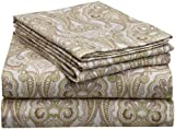 Pointehaven Heavy Weight Printed Flannel Sheet Set, Twin, Paisley