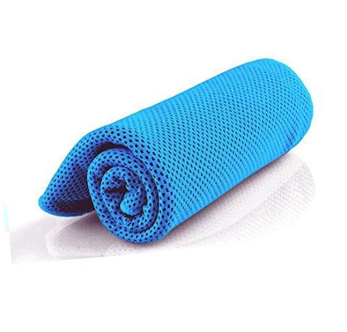 Snowledge Kühles Handtuch, 3er-Packung, für sofortige Entspannung nach dem Sport, für Männer und Frauen sowie Kinder, Mikrofasertuch für Yoga, Laufen, Fitness, Wandern, blau