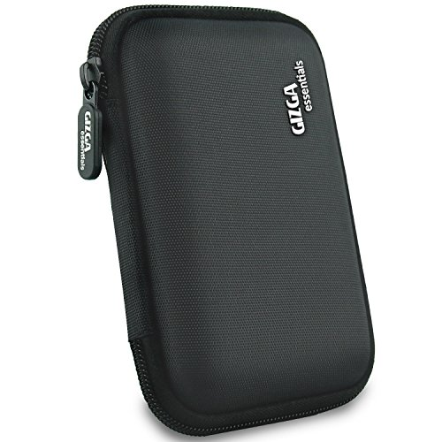 Gizga Essentials External Hard Drive Case for 2.5-Inch Hard Drive - Double Padded (Black)