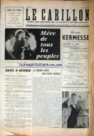 CARILLON (LE) [No 33] du 01/05/1961 - LA SEMAINE SAINTE DANS NOTRE CHAPELLE PAR CLAUDE JEANNEROT.