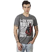 Deadpool by Free Authority Men's Half Sleeve T-Shirt