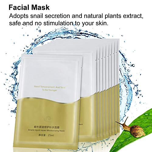 Mascarilla hidratante hidratante, mascarilla de seda, hidrata la piel, reduce la secreción de aceite facial, antiarrugas y antienvejecimiento, hidratación profunda