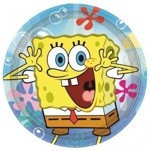 Spongebob Schwammkopf Papier Party Abendessen Teller X 8