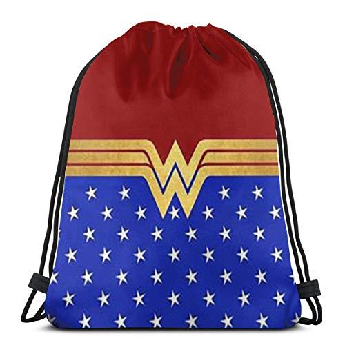 Greatbe Mochila Deportiva cordón Unisex-Wonder Woman