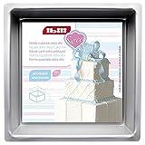 IBILI 815220 - Molde cuadrado extra alto (20 x 20 x 10 cm) Aluminio anodizado