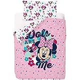 Disney Minnie Love And Spots - Funda nórdica de 3 piezas para cama de 90 cm