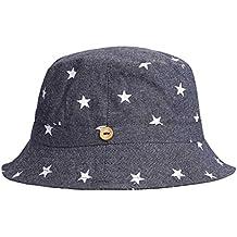 4e8ddfddb49b Bébé Chapeau de soleil Pliable Bob en Coton Printemps Eté Bonnet de Bassin  Seau Motif Etoile