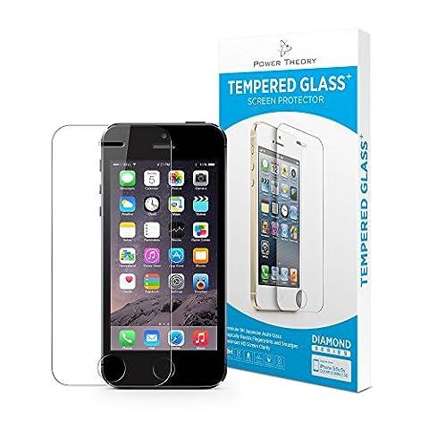 iPhone SE 5/5s Panzerglas - Japanisches 9H Tempered Glass Hartglas, HD Displayschutzfolie, Panzerglasfolie, Handy Schutzglas Glasfolie, Schutzfolie Gehärtetes Panzerfolie Glas
