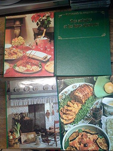 Lot de 4 livres Gastronomie du monde entier Le monde complet de l'art culinaire : La bonne cuisine française - 100 menus complets - Les salades et les hors-d'oeuvre - La cuisine de grand-mère - -