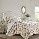 Laura Ashley Quilt Set, Cotton, Pink, King