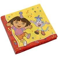 Manège 101685 - Paquete de 20 servilletas, diseño Dora la Exploradora