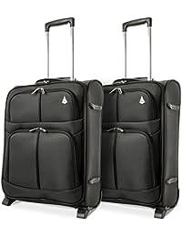 Aerolite 55x40x20 Tamaño Máximo de Ryanair y Vueling Trolley Maleta Equipaje de Mano Cabina Ligera con