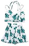 Honeykoko Women's Crop Top + Shorts Culottes Beach Bikini Dresses