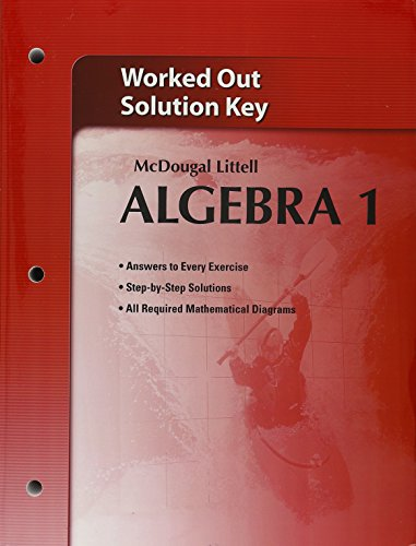 Holt McDougal Larson Algebra 1: Worked-Out Solutions Key (Holt Mcdougal Algebra 1)