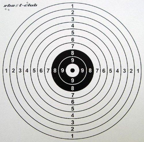 100 Zielscheiben 14x14 cm aus fester Pappe kein Papier! zu shoot-club