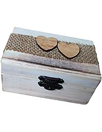 Gazechimp Holz Schmuckschatulle Ringdose Ringbox Dose Schmuckkasten Box Deko Holzschatulle Schatulle