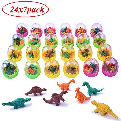 24pz uova di dinosauro gomma da cancellare dinosauro per matita scuola articoli regalino gadget per compleanno bambini battesimo natale (stile4-24pz gomma)