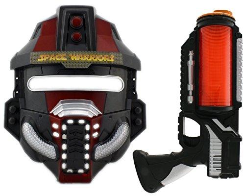 GYD Space Wars Laser Pistole Sound & Licht + Trooper Maske!! (Space Trooper Kostüm)