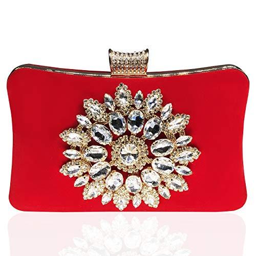 Crystal Abend Clutch Bag (Damen Tasche Diamant Handtasche Party Clutch Bag Hochzeit Abend Kettentasche Umh?ngetaschen¡)